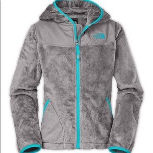 NORTH FACE • Gray Soft Fleece Oso Hooded Jacket